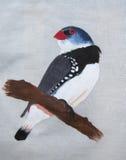 Pintura do pássaro imagens de stock