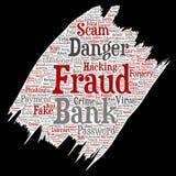 Pintura do perigo do embuste do pagamento da fraude do banco do vetor Foto de Stock Royalty Free