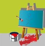 Pintura do quarto Imagens de Stock