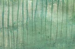 Pintura do risco do branco e do verde Fotografia de Stock Royalty Free