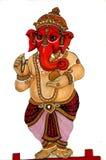 Pintura do senhor Ganesha no palácio da cidade, Udaipur Imagem de Stock