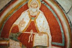 Pintura do senhor Jesus Christ como um bom pastor, igreja Abb imagens de stock