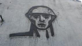 Pintura do soldado do russo Foto de Stock Royalty Free