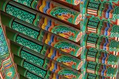 Pintura do telhado do templo Fotografia de Stock
