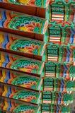Pintura do telhado do templo budista Fotografia de Stock Royalty Free