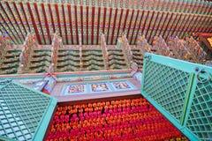 Pintura do templo budista e aniversário tradicionais coreanos da Buda foto de stock
