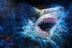 Pintura do tubarão Fotos de Stock Royalty Free
