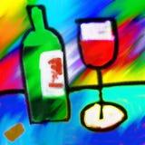 Pintura do vinho tinto Imagem de Stock Royalty Free