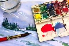 Pintura do Watercolour Fotos de Stock Royalty Free