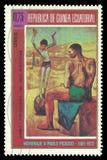 Pintura dos artistas cor-de-rosa do período por Picasso Imagens de Stock