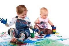 Pintura dos miúdos Imagens de Stock