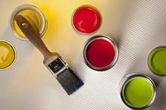 Pintura e decoração - projeto interior Fotos de Stock Royalty Free