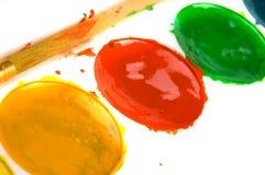 Pintura e escova Fotos de Stock