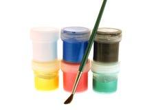 Pintura e escova Foto de Stock Royalty Free