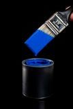 Pintura e escova azuis Imagens de Stock Royalty Free