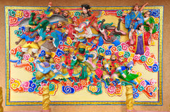 Pintura e estuque do estilo de Art Chinese Fotografia de Stock