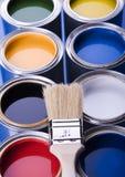 Pintura e latas Imagem de Stock Royalty Free