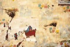 Pintura e papel de parede velhos Fotografia de Stock Royalty Free