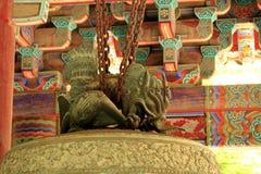 Pintura e sino do templo de BulGukSa imagem de stock