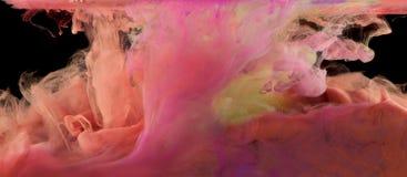 Pintura e tinta sob a água Imagem de Stock Royalty Free