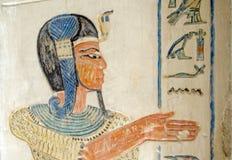 Pintura egípcia antiga do príncipe fotografia de stock royalty free