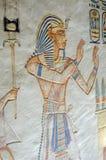 Pintura egipcia antigua del faraón Imágenes de archivo libres de regalías
