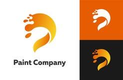 Pintura Empresa Logo Designs imagens de stock royalty free
