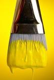 Pintura en amarillo Foto de archivo libre de regalías