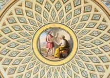Pintura en la ermita, St Petersburg del techo Imagenes de archivo