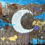 Pintura en la madera vieja Fotografía de archivo libre de regalías
