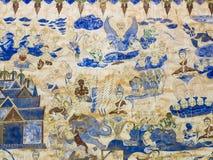 Pintura en la pared de la iglesia en el templo, el abou de la historia Foto de archivo