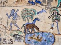 Pintura en la pared de la iglesia en el templo, el abou de la historia Imagenes de archivo