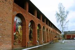Pintura en las paredes del Kremlin antiguo Fotografía de archivo