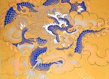 Pintura en las ruinas del palacio de Wangduechhoeling, Bumthang, Bhután fotos de archivo libres de regalías
