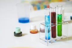 pintura en los tubos mezclados con agua Imagen de archivo libre de regalías