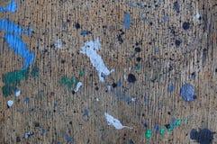 Pintura en superficie de la madera contrachapada Foto de archivo