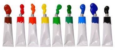 Pintura en tubos Imagen de archivo libre de regalías