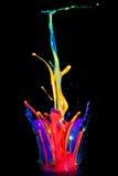 Pintura en un altavoz Imagenes de archivo