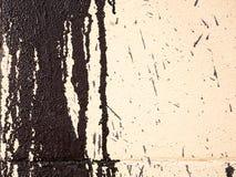 Pintura en una pared, textura del goteo Fotografía de archivo libre de regalías