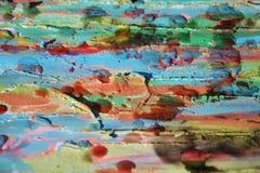 Pintura enlameada, matiz da aquarela, pontos, fundo abstrato Fotografia de Stock