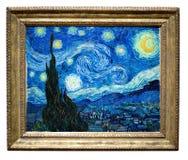 Pintura estrelado da noite por Vincent Foto de Stock