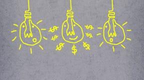 Pintura fácil da ilustração da escova na obscuridade - fundo cinzento Ligh bonito foto de stock royalty free