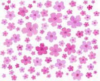 Pintura feito à mão da aquarela cor-de-rosa da cor Fotos de Stock