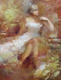 Pintura femenina, hecha a mano Imágenes de archivo libres de regalías