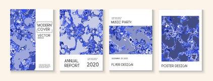 Pintura fl?ida, Clay Texture Vector Cover Layout Revista de moda, plantilla del cartel de la m?sica Cartel moderno de la ecolog?a foto de archivo libre de regalías