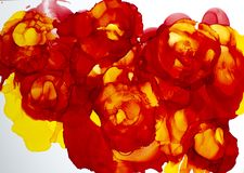 Pintura floral da tinta do sumário fotografia de stock