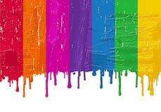 Pintura fresca del arco iris Imágenes de archivo libres de regalías