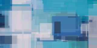 Pintura geométrica abstrata azul ilustração do vetor