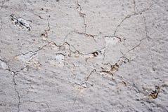 Pintura gris agrietada en el hormig?n Fotos de archivo libres de regalías