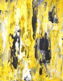 Pintura gris y amarilla del arte abstracto Fotos de archivo